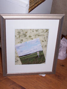 Silver-Leaf Frame with Matte Boarder - 18.5 x 22.5 London Ontario image 1
