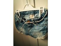 Zara BabyGirl denim shorts, 6-9m