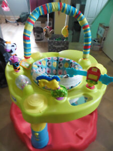 large farm themed baby exersaucer