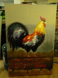 Rooster Canvas - NEW - Priced just reduced