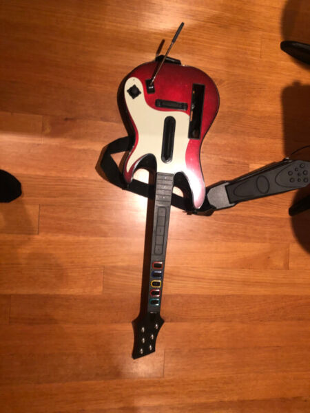 Free guitar hero guitar and band hero drumset for nintendo wii!