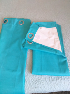 """Two 84"""" long grommet panel curtains"""