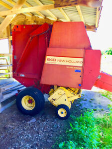 Round baler New Holland 640 silage special