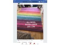 RUG NEW WOOL EXTRA E TRA LARGE STUNNING