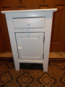 Solid Wood Rustic Night table painted Cloud White
