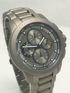 Michael Kors MK8530 Gunmetal Gray Titanium Watch (NEW)