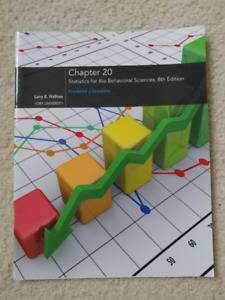 Statistics for the Behavioral Sciences 8th Edition Chapter 20