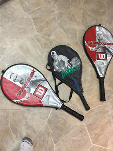 New tennis racquet with cases/covers older but not used