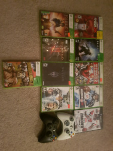Xbox 360 games and cords