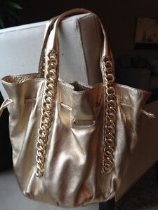 Michael Kors Metalic Gold Leather Purse