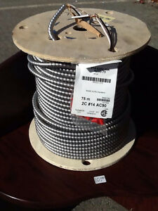 spool of 14/2  ac90 armored wire