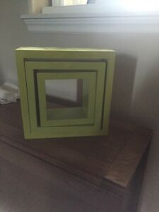Lime green picture hanging box
