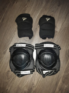 ROLLER BLADE KNEE HARD PADS AND SOFT ELBOW PADS