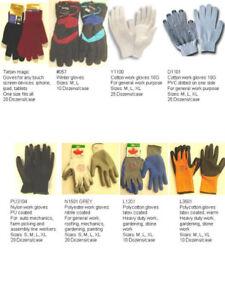 Wholesale Cotton, Pu, Coated, Car Repair, Gardening Work Gloves