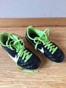 Size 12 kids soccer shoes, Nike brand, like new