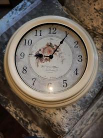 Large floral clock.