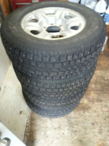 Studded 245/70/16  winter tires on 6x139.7 Toyota Rims