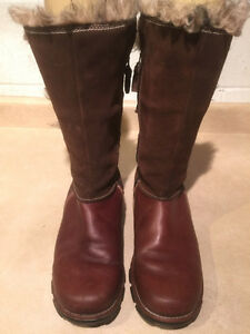 Women's Columbia Tall Leather Winter Boots Size 11 London Ontario image 2
