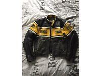 Leather motorbike style jacket