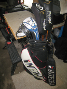Golf Clubs - Cleveland Complete set, with Pro Cart Bag