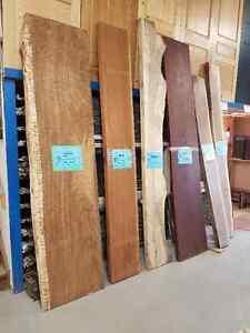 Various live edge slabs