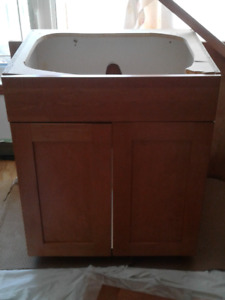 Quality solid Maple base kitchen and wall /pantry cabinet