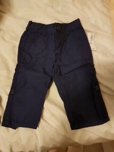6-12 months (great gift)! DARK BLUE PANTS NEW WITH TAG, PAID $17