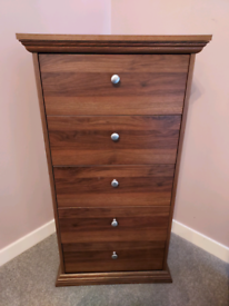 BROWN WALNUT COLOUR BEDROOM FURNITURE BEDROOM SIDEBOARD