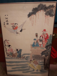 2 Old Beautiful Chinese Original Painting signed.