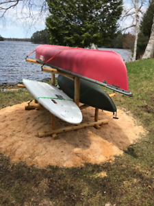 Attention Cottagers - Canoe and Kayaks Support Rack