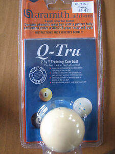 Q-Tru Training Ball - Pool or Snooker, 2.25 in. Aramith Cue Ball