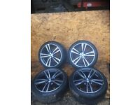 "BMW F3X OR F4X ""19"" STYLE 442 FERRIC GREY M SPORT ALLOY WHEEL AND TYRES"
