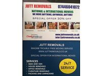 MAN And VAN JUTT Removals NATIONAL And INTERNATIONAL MOVERS ,SPECIAL OFFER 30%OFF,