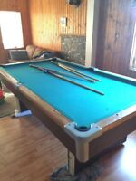 4x8 pool table good decent condition