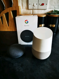 Google home and 2 x Google nest