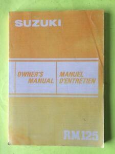 1983 Suzuki RM125 Owners Manual