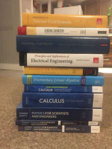 1st and 2nd year engineering textbooks