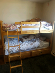 Children's bunk and bedroom set