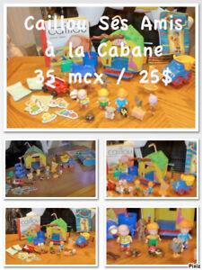 Cabane Caillou avec ses Amis et autres matériels 35 mcx
