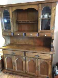 China cabinet and matching table,