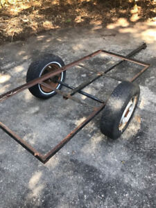 Yard trailer frame - axel / wheels