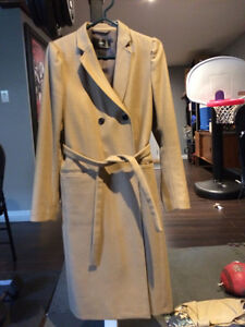 FilippaK camel coloured long belted wool coat.  size large