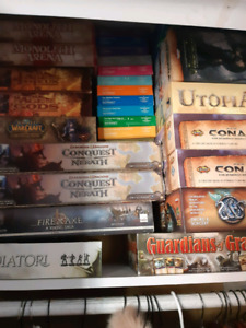 lots of board games. Check out the list: