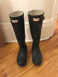 Bottes Hunter originale tall verte T.37 West Island Greater Montréal image 1