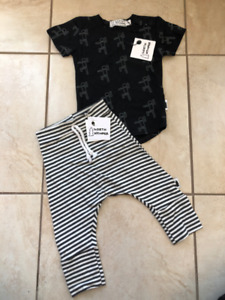 North Kinder Outfit Size 0-6m - Brand New with Tags! Made in Can
