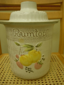 Rumtopf Large Crock for Fermenting Fruit - Ceramic Pot - Germany