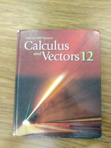 Calculus and Vectors 12 McGraw-Hill Ryerson