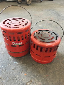 Pair of Ice hut heaters