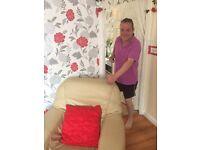 Cream leathe sofa and chair