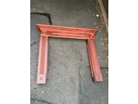 SOLID WOOD FIRE SURROUND SHABBY CHIC PROJECT ** FREE DROP OFF WEDNESDAY **